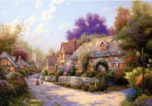 Jigsaw-Puzzles-1000-Pieces-034-Cobblestone-Village-034-Thomas-Kinkade