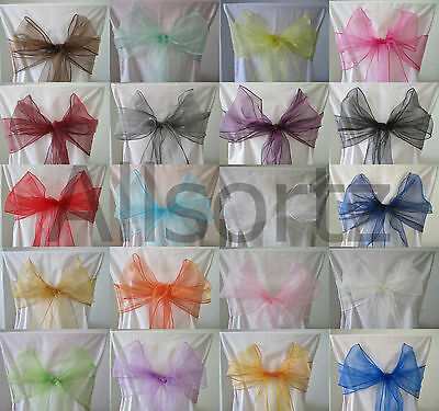 Organza Chair Sashes Bows for Weddings Shaadi Mehndi Party Nikkah Events
