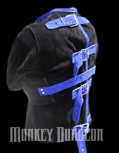 All-Genuine-suede-leather-straight-Jacket-U-choose-colors-straitjacket-restraint