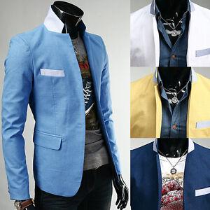 Men-039-s-Premium-Slim-Fit-Casual-amp-Dress-Spring-Cotton-Blazer-Jackets-RC36-on-Sale