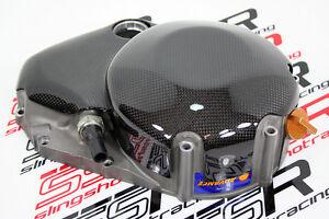 ducati 848 hm monster mts 1200 sf hypermotard 796 wet clutch cover carbon fiber ebay. Black Bedroom Furniture Sets. Home Design Ideas
