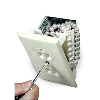 Wall outlet receptical secret trick safe hide valueables disguise diversion