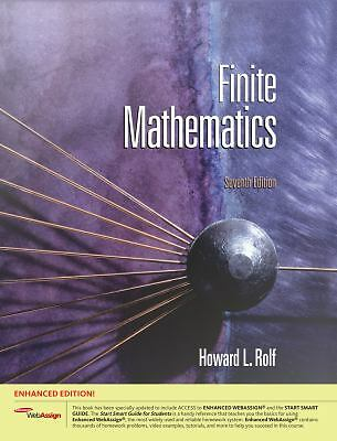 Finite Mathematics by Howard Rolf (2010, Mixed Media)