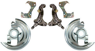 NEW DISC BRAKE SPINDLES,CALIPER BRACKETS,DUST SHIELDS,64-74 GM,STEERING KNUCKLES