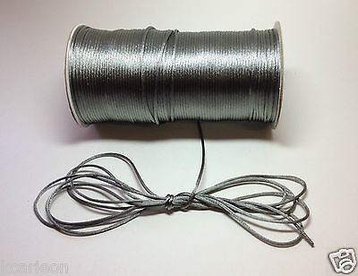 2mm Rattail Cord Chinese/China Knot Rat-Tail Jewelry Braid U-Pick BTY & Color