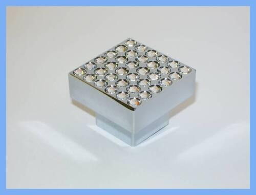 Möbelknöpfe Möbelknopf mit 36 Kristallen Kristall A285