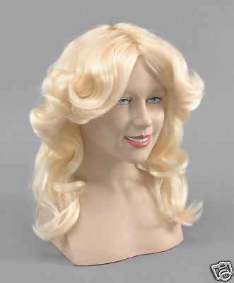 Madonna long blonde fancy dress costume Barbie outfit wig O/S accessory