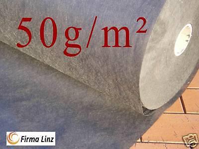 1x50m Gartenvlies Gartenflies Mulchfolie Unkraut 50m²