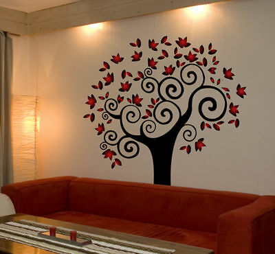 TREE Wall Decal Deco Art Sticker Mural AMAZING COLORS!