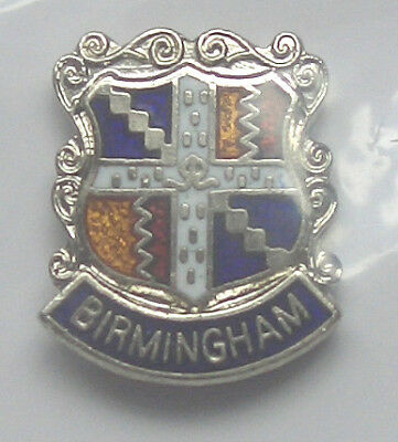 BIRMINGHAM UK HARD ENAMEL QUALITY LAPEL PIN BADGE