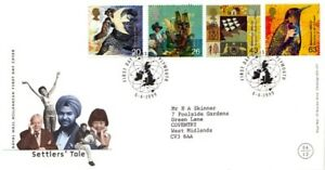 6-APRIL-1999-SETTLERS-TALE-ROYAL-MAIL-FIRST-DAY-COVER-PLYMOUTH-SHS
