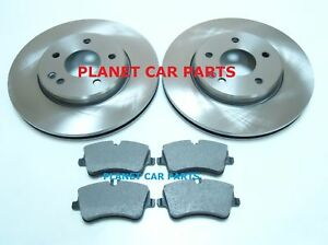 mercedes c class w203 c203 c200 c220 cdi front brake discs mintex pads set new ebay. Black Bedroom Furniture Sets. Home Design Ideas