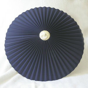 New-Navy-Blue-17-Pleated-uplighter-Pendant-lampshade