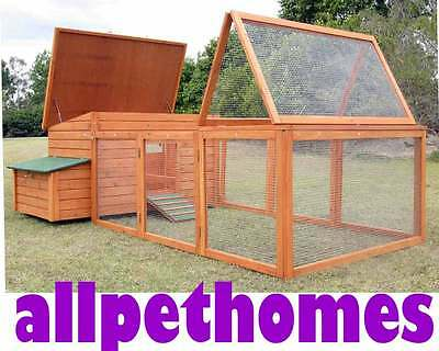 Rabbit Guinea Pig Hutch Cage Chicken Coop House G111 and RUN