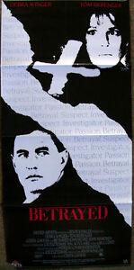 BETRAYED-DEBRA-WINGER-TOM-BERENGER-VINTAGE-1989-18x38-VIDEO-MOVIE-POSTER