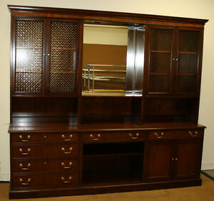 Image Is Loading BAKER FURNITURE Vintage Credenza Office Home Hutch Storage