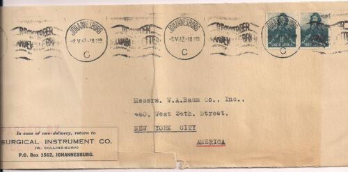 South Africa-1940's-Stamped Cover