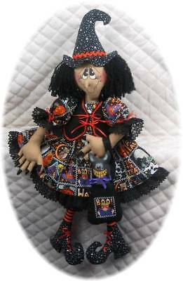 "~~~Primitive Raggedy 29"" Halloween Witch & Cat PATTERN #117~~~"