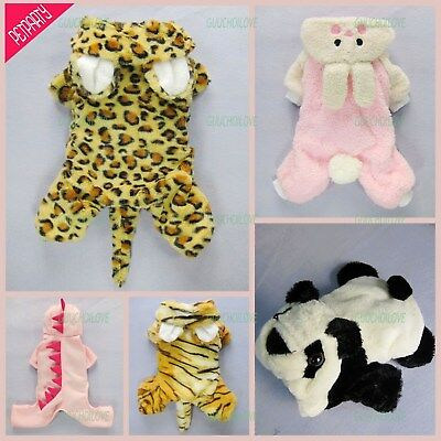 Halloween Costumes Collection Winter Dog Coat Pet Clothes Warm Apparel Jumpsuit