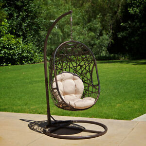 Outdoor Patio Furniture Modern Design Swinging Egg Wicker