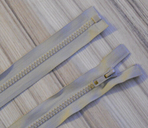 """26/""""// 66 CM CHUNKY PLASTIC OPEN END ZIP CHOOSE YOUR PREFERED COLOUR!"""
