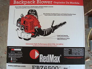 NEW-REDMAX-EBZ6500RH-BACKPACK-COMMERCIAL-GAS-50-2CC-LEAF-YARD-BLOWER-232MPH