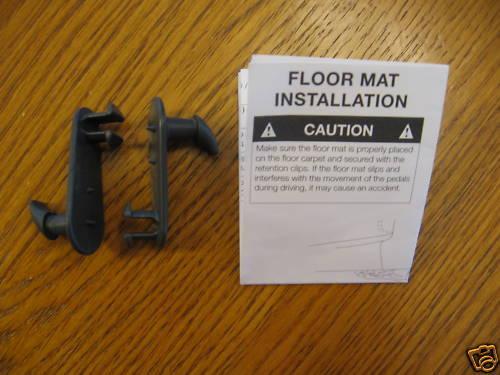 4 NEW auto car truck floor mat clips gray plastic rug