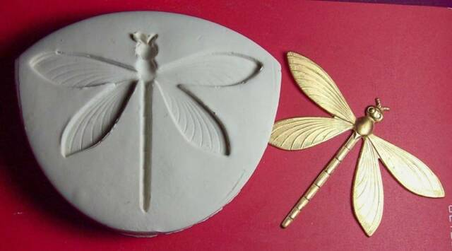 DRAGONFLY  #7 ~ CNS polymer clay handmade mold mould