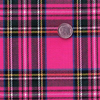"ACRYLIC DRESS CLOTH UNIFORM FABRIC VINTAGE CHIC SCOT TARTAN CHECK PLAID 44""WIDE"