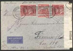 Germany To Chile Censor Via LATI Cover 1941 w 7 Stamps L@@K