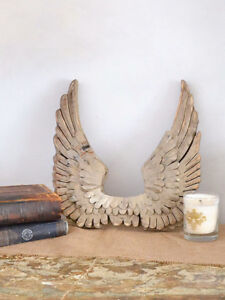 Shabby-Cottage-Chic-French-Angel-Wings-Wall-Decor-Gold