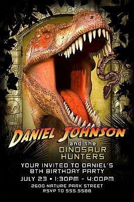 Dinosaur / Indiana Jones Birthday Invitations CUSTOM