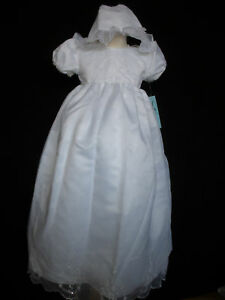 Baby-Girl-Christening-Baptism-Church-Formal-Dress-Gown-size-3-18-Month-White