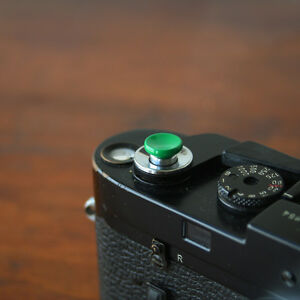 Green Concave Small Soft Release Button for Leica MP M8 M9 Fuji X100 Nikon Canon