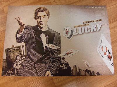 KIM HYUN JOONG - LUCKY [ORIGINAL POSTER] SS501 K-POP