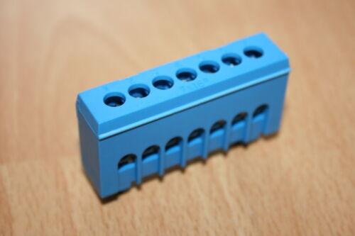 Schutzleiter grün oder Neutralleiter N blau 7polige Klemme für Hutschiene,7pol