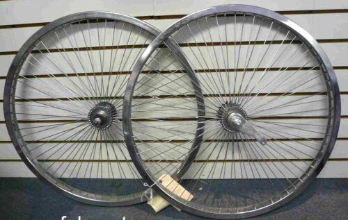 "Beach Cruiser Bike 24/""x1.75  68 spokes R /& F Wheelset Chrome W Coaster Brake Rim"