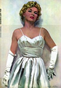 DENISE-DARCEL-Poster-Centerfold-MIKE-LUDLOW-French-Actress-FROM-1956
