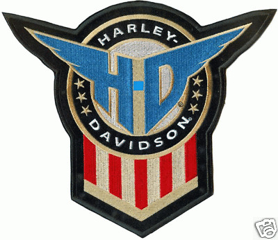 HARLEY DAVIDSON HONOR SHIELD PATCH (XXL) 10 inch