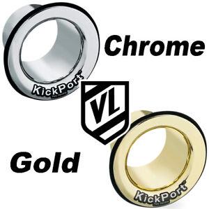 KickPort Bass Drum Hole Sound Enhancer CHROME or GOLD