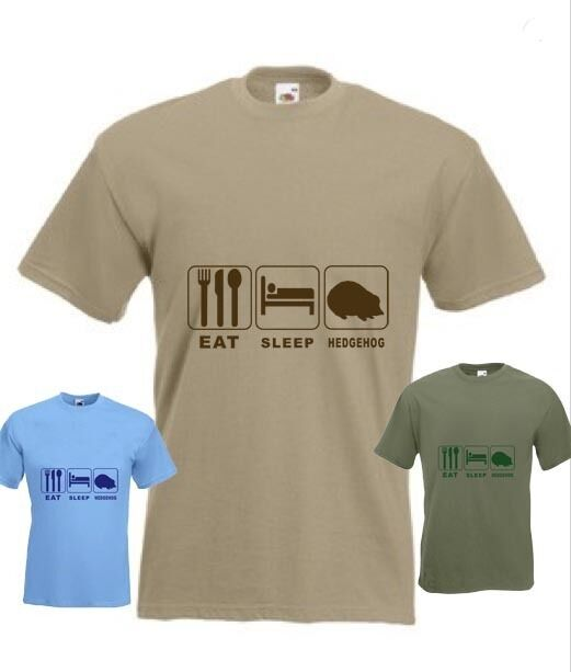 Eat Sleep Hedgehog  Funny T-shirt in all Sizes