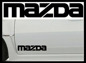 2-X-MAZDA-LARGE-VINYL-CAR-STICKERS-DECALS