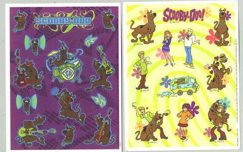 2 Sheets SCOOBY DOO Mystery Machine Rock Star Scrapbook Stickers!