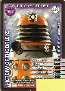 DR-WHO-MONSTER-INVASION-SET-2-EXTREME-SUPER-RARE-190-DALEK-SCIENTIST