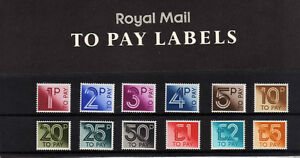 GREAT BRITAIN 1982 POSTAGE DUES PRESENTATION PACK No.135.
