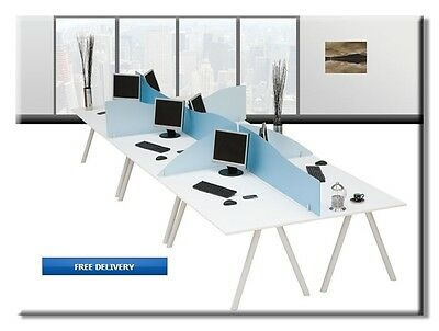 Frosted Acrylic DeskTop Divider Privacy Screens - Choice of 2 Exciting Colours