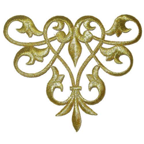 met gold rencontré Argent /& Noir Decorative Swirl Scroll X 1