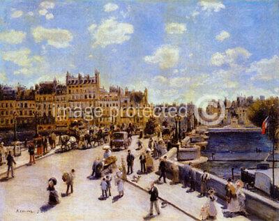 Artist Pierre Auguste Renoir Poster Pont Neuf -24x36