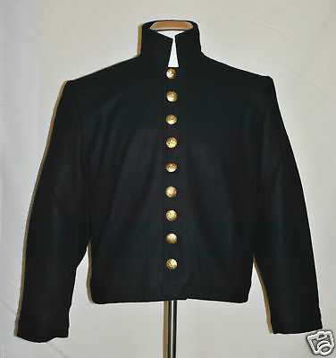 Officers 9-Button Shell Jacket/Roundabout - Size 40 - Civil War - Navy Blue