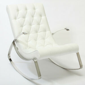 Barcelona-City-Luxury-Modern-Design-White-Leather-Rocking-Lounge-Chair